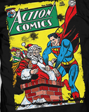 DC Comics Superman Cover 105 Xmas Official Men's T-shirt (Black)