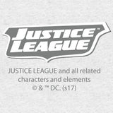 DC Comics Justice League Stripped Official Men's T-shirt (Heather Grey)