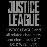 DC Justice League Logo Metallic Official Sweatshirt (Black) - Urban Species Mens Sweatshirt