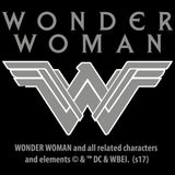 DC Wonder Woman Triangle Fierce Official Women's T-shirt (Black)
