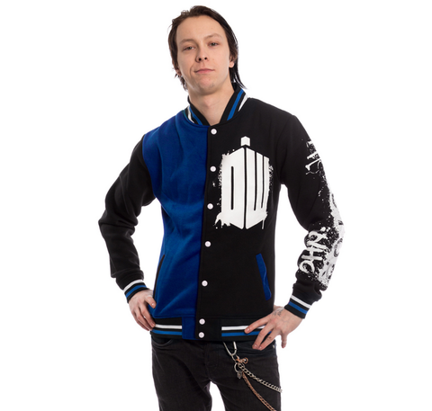Doctor Who Street Men's Varsity Jacket (Black) - Urban Species Varsity Jacket