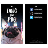Doug The Pug Pug Life Chains Official Men's T-shirt (Black) - Urban Species Mens Short Sleeved T-Shirt