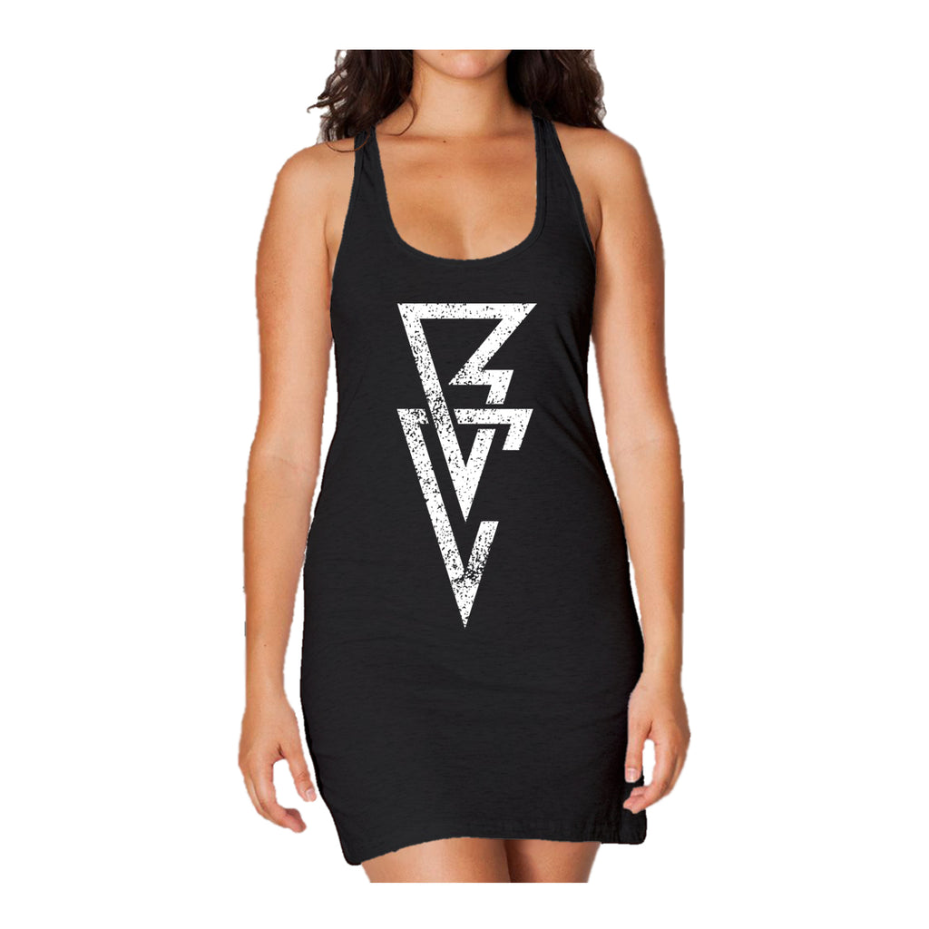 WWE Finn Balor Logo Triangle Long Tank Dress Ladies (Black)