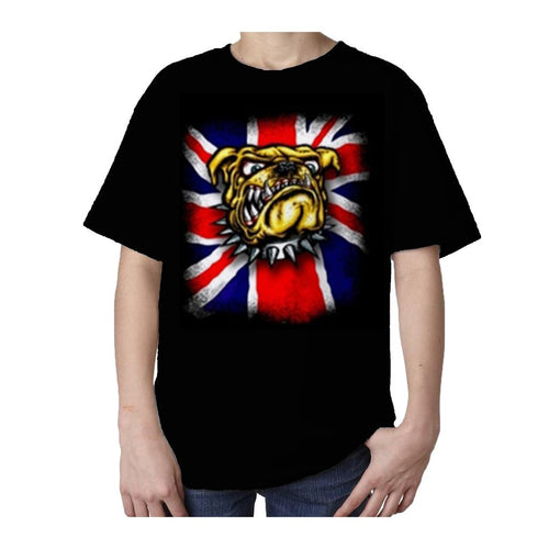 Kids Bulldog T-shirt (Black) - Urban Species Kids Short Sleeved T-Shirt