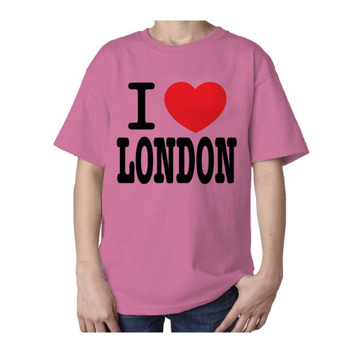 Kids I Love London T-shirt (Pink)