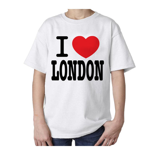 Kids I Love London T-shirt (White) - Urban Species Kids Short Sleeved T-Shirt