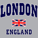 London Union Jack England Men's T-shirt (Heather Grey)