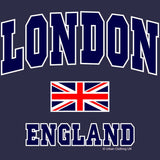 London Union Jack England Men's T-shirt (Navy)