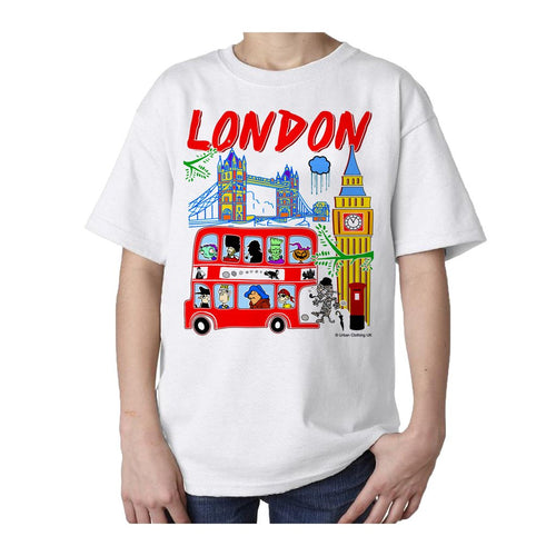 Kids London Cartoons T-shirt (White)