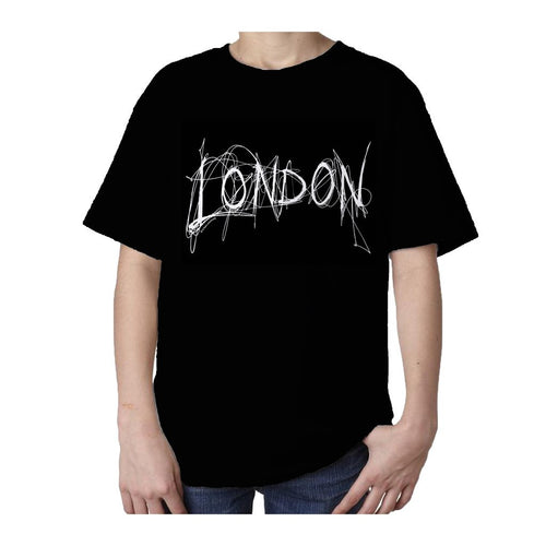 Kids London Scribble T-shirt (Black) - Urban Species Kids Short Sleeved T-Shirt