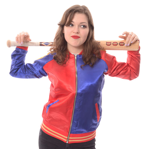 DC Suicide Squad Property Official Varsity Jacket (Red/Blue) - Urban Species Mens Varsity Jacket