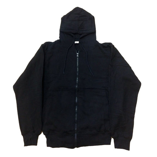 Plain Zip Men's Hood (Black) - Urban Species Hoodie