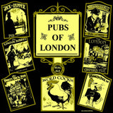 Pubs of London Men's T-shirt (Black)