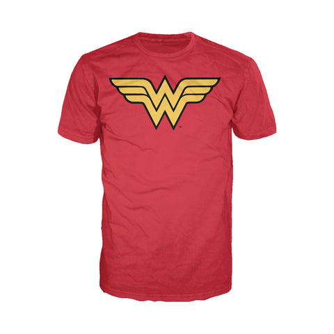 DC Comics Wonder Woman Logo Classic 01 Official Men's T-shirt (Red) - Urban Species Mens Short Sleeved T-Shirt