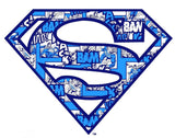 DC Comics Superman Logo Collage Official Men's T-shirt (White)