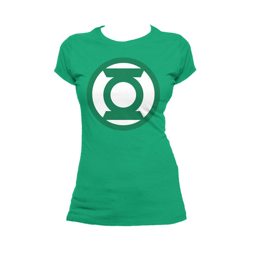 DC Comics Green Lantern Logo Official Women's T-shirt (Green) - Urban Species Ladies Short Sleeved T-Shirt