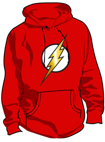 SALE £10 ONLY | Flash Logo Modern Red Kids Hoody - Urban Species Hoodie