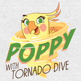 Angry Birds Poppy Graphic Tornado Official Kid's T-shirt (Heather Grey)