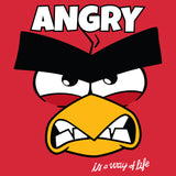 Angry Birds Red Text Angry Official Kid's T-shirt (Red)