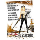 Motorhead Mike Mayhew Ace of Spades Official Women's T-shirt (White) - Urban Species Ladies Short Sleeved T-Shirt