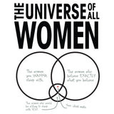 Big Bang Theory Graphic Women Universe Official Men's T-shirt (White) - Urban Species Mens Short Sleeved T-Shirt