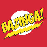 Big Bang Theory Logo Bazinga Official Men's T-Shirt (Red)