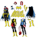 DC Comics Batgirl Logo Cut Out Official Women's T-shirt (White)