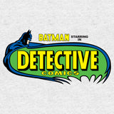 DC Comics Batman Logo Retro Detective Comics Official Men's T-shirt (Heather Grey) - Urban Species Mens Short Sleeved T-Shirt