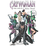 DC Comics Catwoman Cover Nine Lives Official Women's T-shirt (White) - Urban Species Ladies Short Sleeved T-Shirt