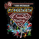DC Comics Crisis Logo Justice League Official Men's T-shirt (Black)