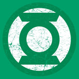 DC Comics Green Lantern Distressed Logo Official Men's T-shirt (Green) - Urban Species Mens Short Sleeved T-Shirt
