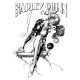 DC Comics Harley Quinn Sketch Swing 01 Official Women's T-Shirt (White) - Urban Species Ladies Short Sleeved T-Shirt