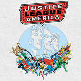 DC Comics JLA Splash Silver Age Official Men's T-shirt (Heather Grey) - Urban Species Mens Short Sleeved T-Shirt