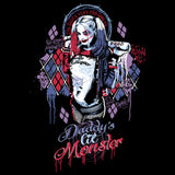 DC Suicide Squad Harley Lil Monster Official Women's T-shirt (Black)