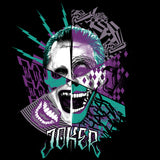 DC Suicide Squad Joker Logo Official Men's T-shirt (Black) - Urban Species Mens Short Sleeved T-Shirt