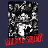 DC Suicide Squad Group Shot Official Men's T-shirt (Navy) - Urban Species Mens Short Sleeved T-Shirt