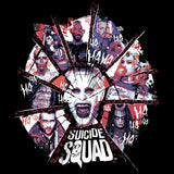 DC Suicide Squad Shattered Official Women's T-shirt (Black)