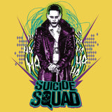 DC Suicide Squad Logo Joker Official Women's T-shirt (Yellow) - Urban Species Ladies Short Sleeved T-Shirt