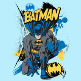 DC Comics Batman Crouch Official Kid's T-Shirt (Sky Blue) - Urban Species Kids Short Sleeved T-Shirt