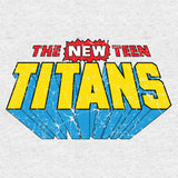 DC Comics New Teen Titans Distressed Logo Official Women's T-shirt (Heather Grey) - Urban Species Ladies Short Sleeved T-Shirt
