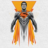 DC Batman V Superman Superman Splash Digi Cube Official Men's T-shirt (Heather Grey)