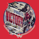 DC Wonder Woman Circle Victory Official Men's T-shirt (Red) - Urban Species Ladies Short Sleeved T-Shirt