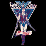 DC Wonder Woman Triangle Fierce Official Men's T-shirt (Black)