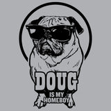 Doug The Pug Homeboy Official Men's T-shirt (Heather Grey)