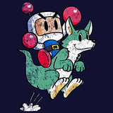 Bomberman Character Super 1993 Official Men's T-shirt (Navy) - Urban Species Mens Short Sleeved T-Shirt