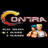 Contra Title Screen Official Women's T-shirt (Black)