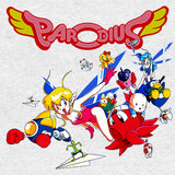 Parodius Box Art Official Women's T-shirt (Heather Grey)
