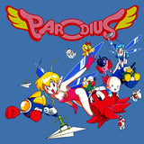 Parodius Box Art Official Men's T-shirt (Royal Blue) - Urban Species Mens Short Sleeved T-Shirt