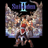 Suikoden II Box Art 02 Official Women's T-shirt (Black) - Urban Species Ladies Short Sleeved T-Shirt