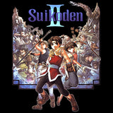 Cool New Suikoden II Box Art Official Men's T-shirt (Black) - Urban Species Mens Short Sleeved T-Shirt
